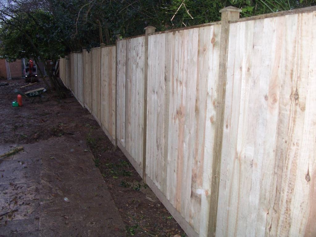 New 100ft Closeboard fence, timber posts.