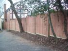 Awkward jobs no problem! We threaded this 6ft panelled fence through the back of mature trees without damaging them.